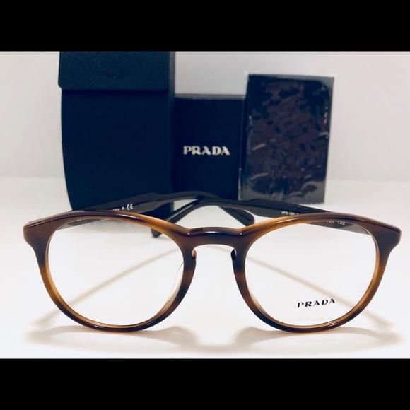 b700cba61c7d1 Prada Eyeglasses Men s Striped Brown